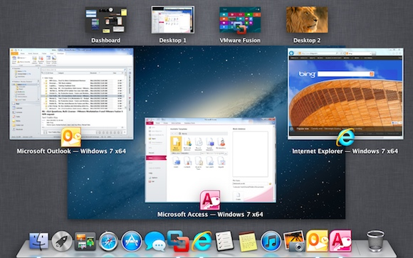 Windows app in Mac dock